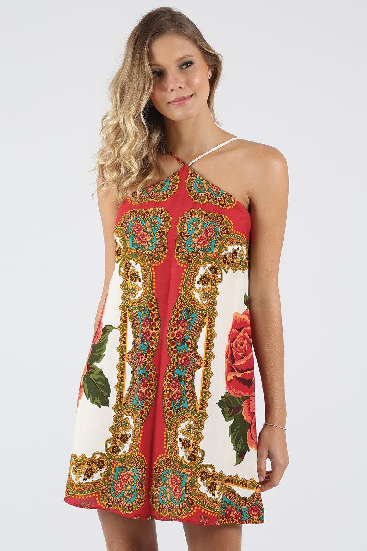 18b731777 Vestido Farm Y Lenço Rosalina - BabadoTop   Dress n Style 10 em 2019 ...