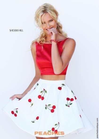 Stunning Two Piece Sherri Hill Short Dress 50234