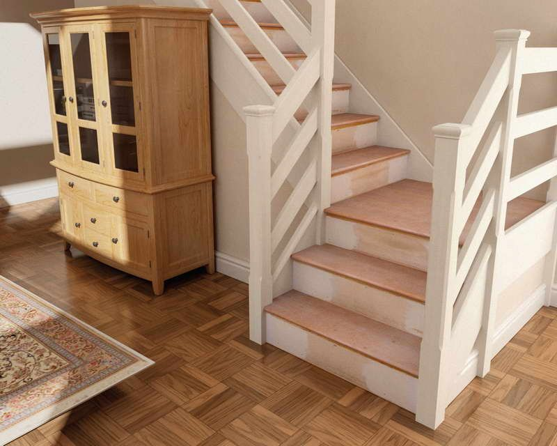Horizontal Stair Railing Google Search Oak Stairs Farmhouse
