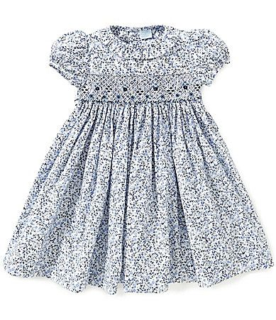Edgehill Collection Baby Girls 324 Months Floral Smocked