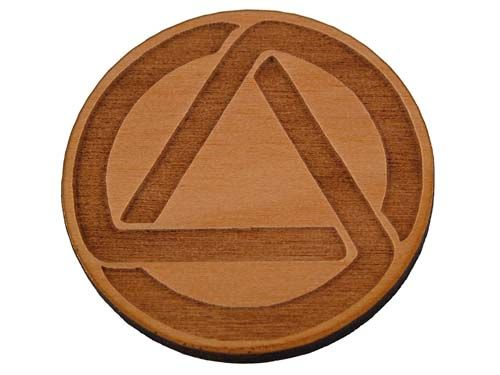Aa Circle And Triangle Token Alcoholics Anonymous Coins And Chips
