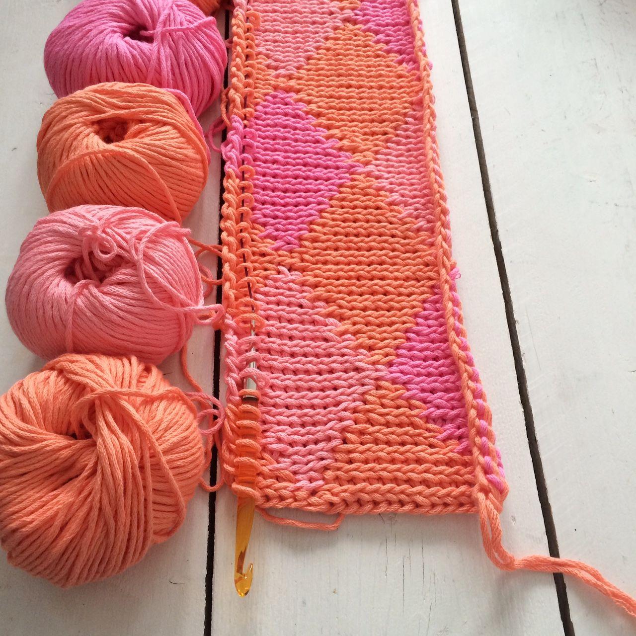 Tunisch Haken De Knitstitch Tunisian Crochet Crochet