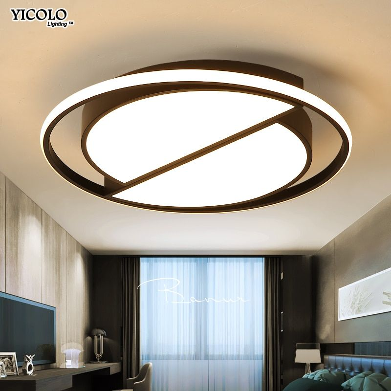 White Black Led Ceiling Lamp Modern With Remote Control Ceiling Light Living Room Kitchen Li Ceiling Lights Living Room Ceiling Lights Indoor Lighting Fixtures