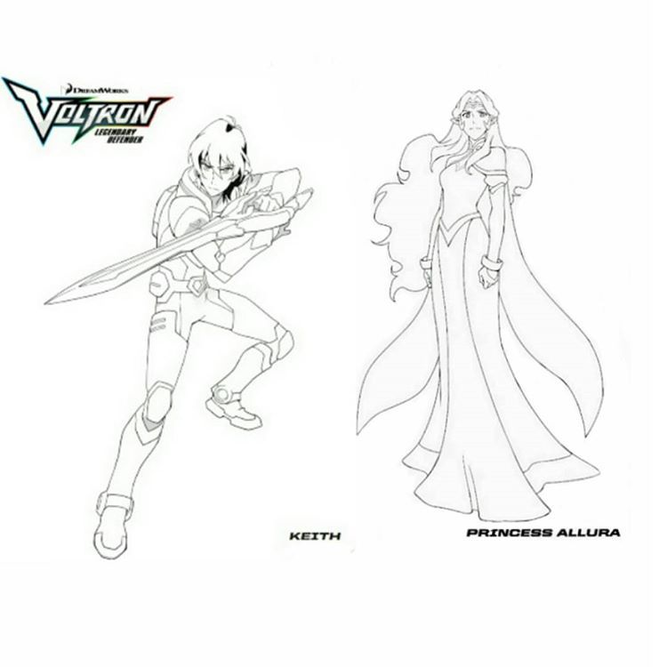 Keith Princess Allura Voltron Legendary Defender Coloring Page Princess Allura Voltron Legendary Defender Coloring Pages