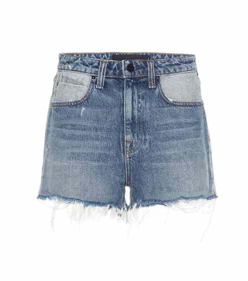 Alexander Wang High-Waist-Shorts Bite aus Baumwoll-Denim
