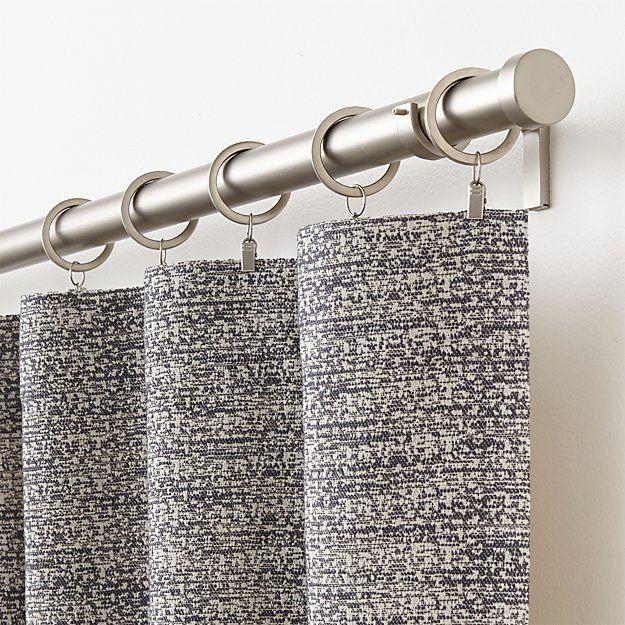 Desmond Dark Grey Cotton Curtain Panel 50x84 Cotton Curtains