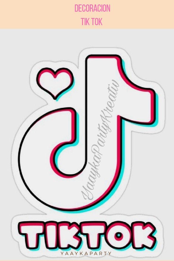 Molde Y Plantilla Logotipo Tik Tok Diseño De Cumpleaños Letreros De Cumpleaños Temas De Fiesta De Cumpleaños