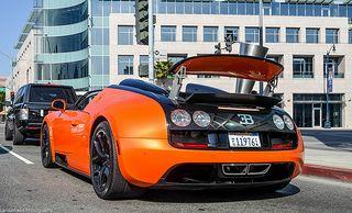 Bugatti Veyron Vitesse 주황