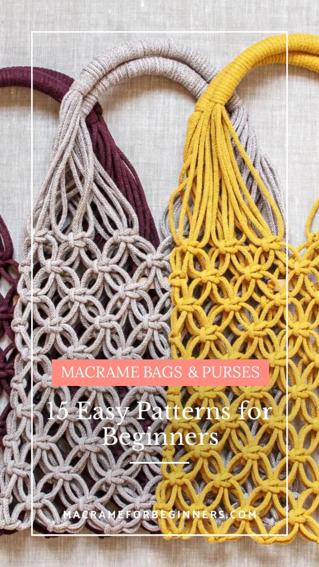 15 Easy DIY Macrame Bags, Purses and Clutches for Beginners | Macrame for Beginners