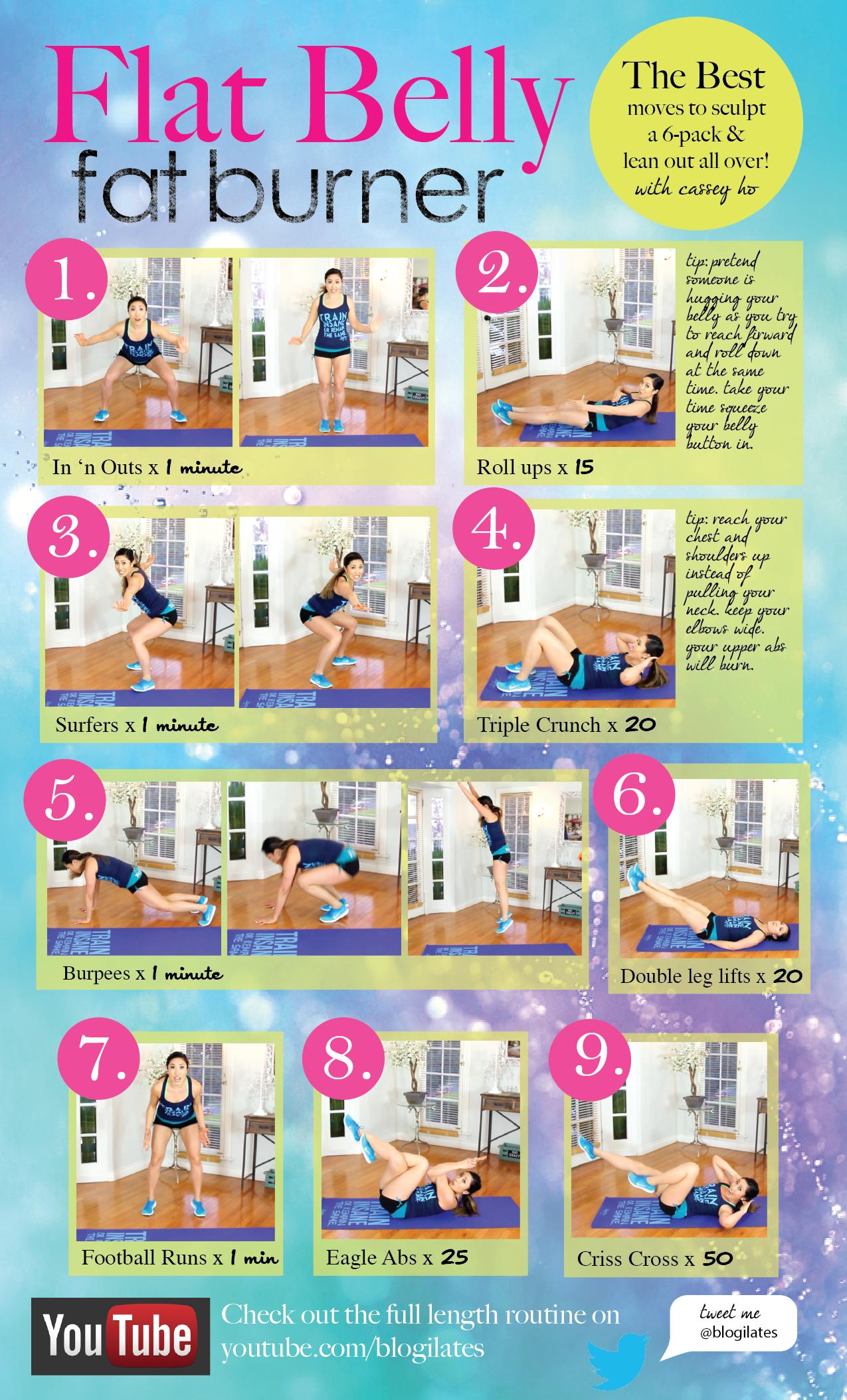 The BEST Flat Belly Fat Burner Workout (Blogilates