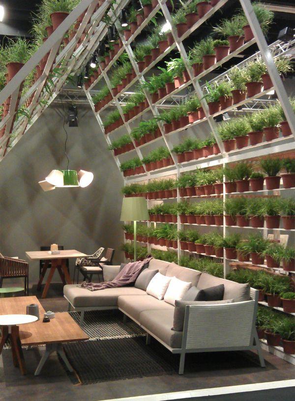 plant wall divider from mocha uk blog | kili hub restaurant
