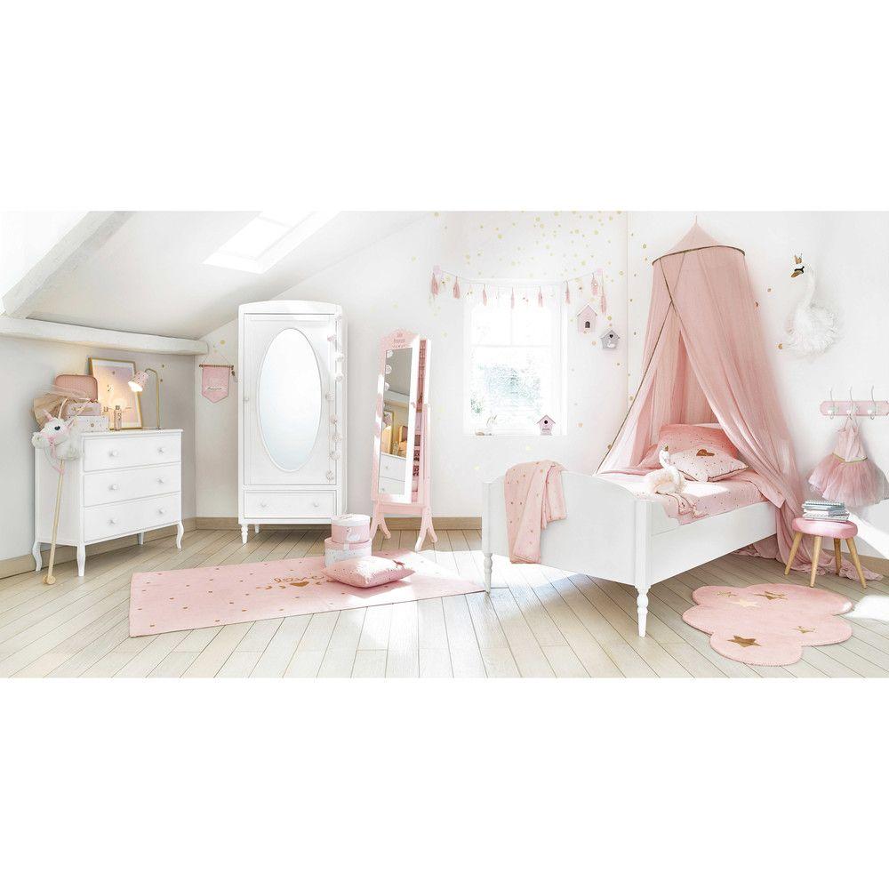 Ciel de lit enfant rose | Chambre bb | Schubladen, Bett et Betthimmel