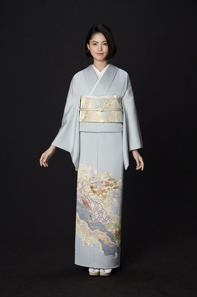 礼橘 留袖 京友禅着物の老舗 千總 ショートカット 着物 着物スタイル 伝統的な服