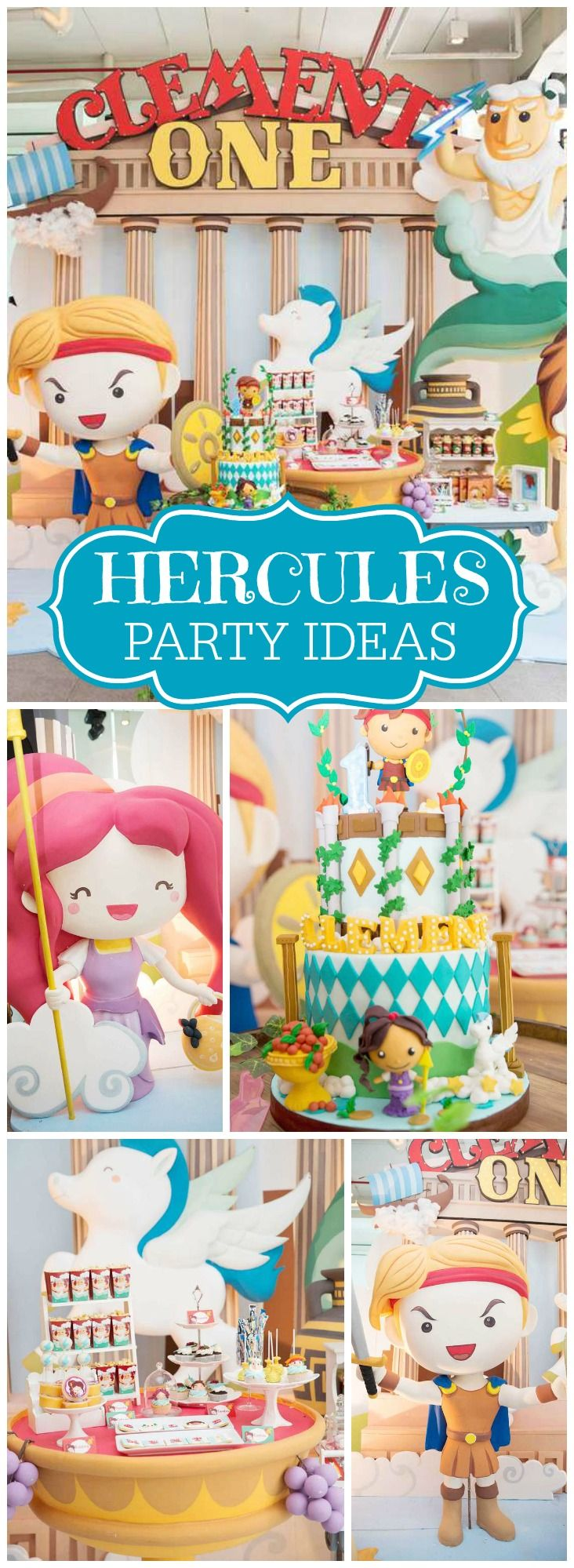 So many amazing details at this Hercules party! See more party ideas at CatchMyParty.com!