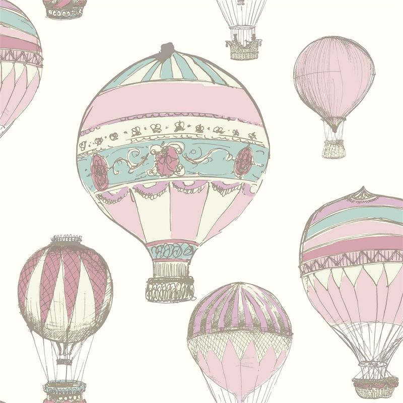 ideco home laurent pink & purple hot air balloon