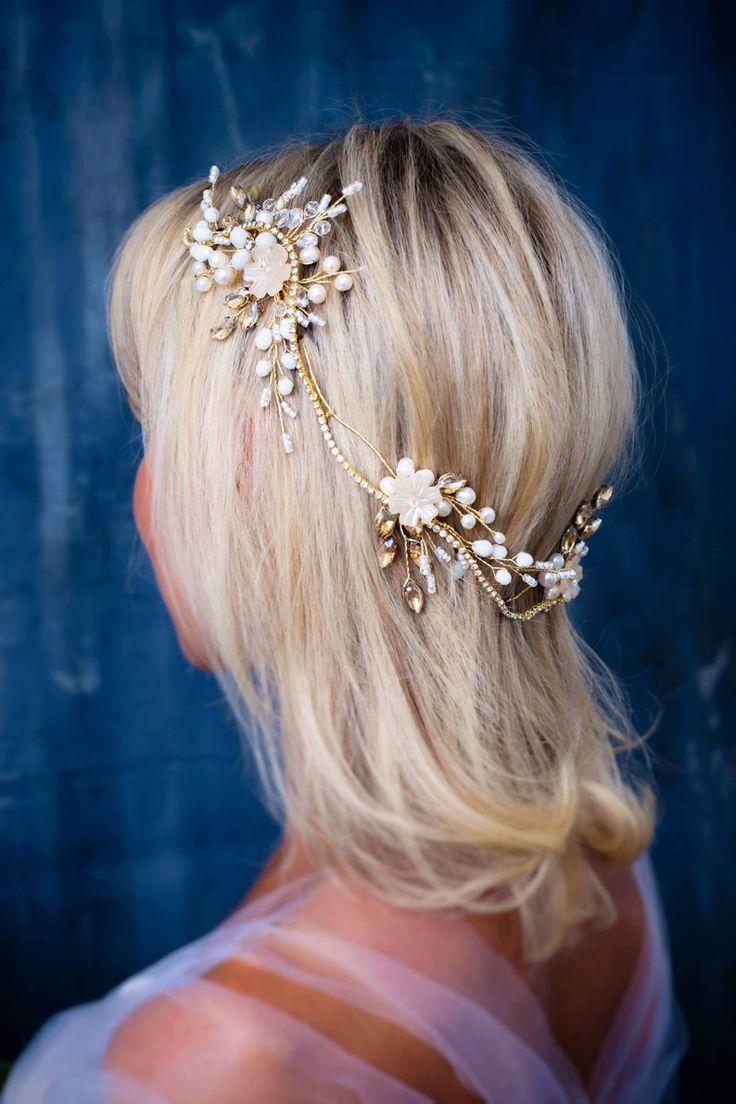 Flower head wreath wedding Hair jewels for wedding Pearl hair   Etsy #flowerheadwreaths Flower head wreath wedding Hair jewels for wedding Pearl hair   Etsy #flowerheadwreaths