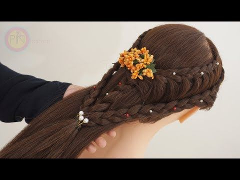 Easy Hairstyle For wedding Reception / function / Ins… | Simple wedding hairstyles, Hair styles ...