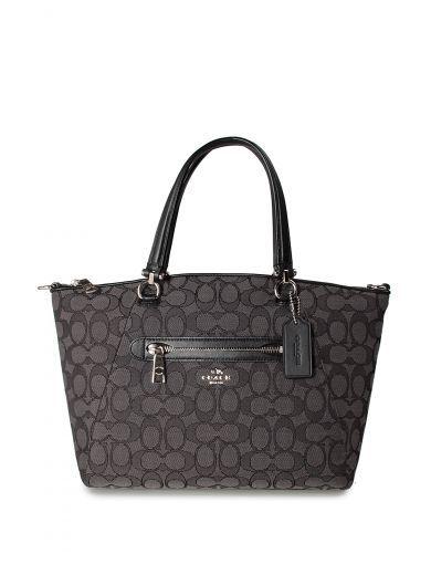 COACH Coach Prairie Leather And Signature Jaquard Shoulder Bag.  coach  bags   shoulder bags  hand bags  leather  cotton   96d779bc6796f