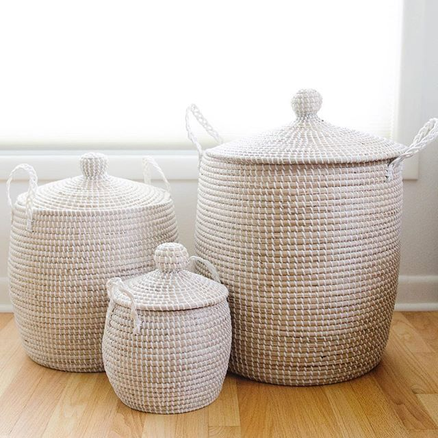 Woven Laundry Hamper With Lid