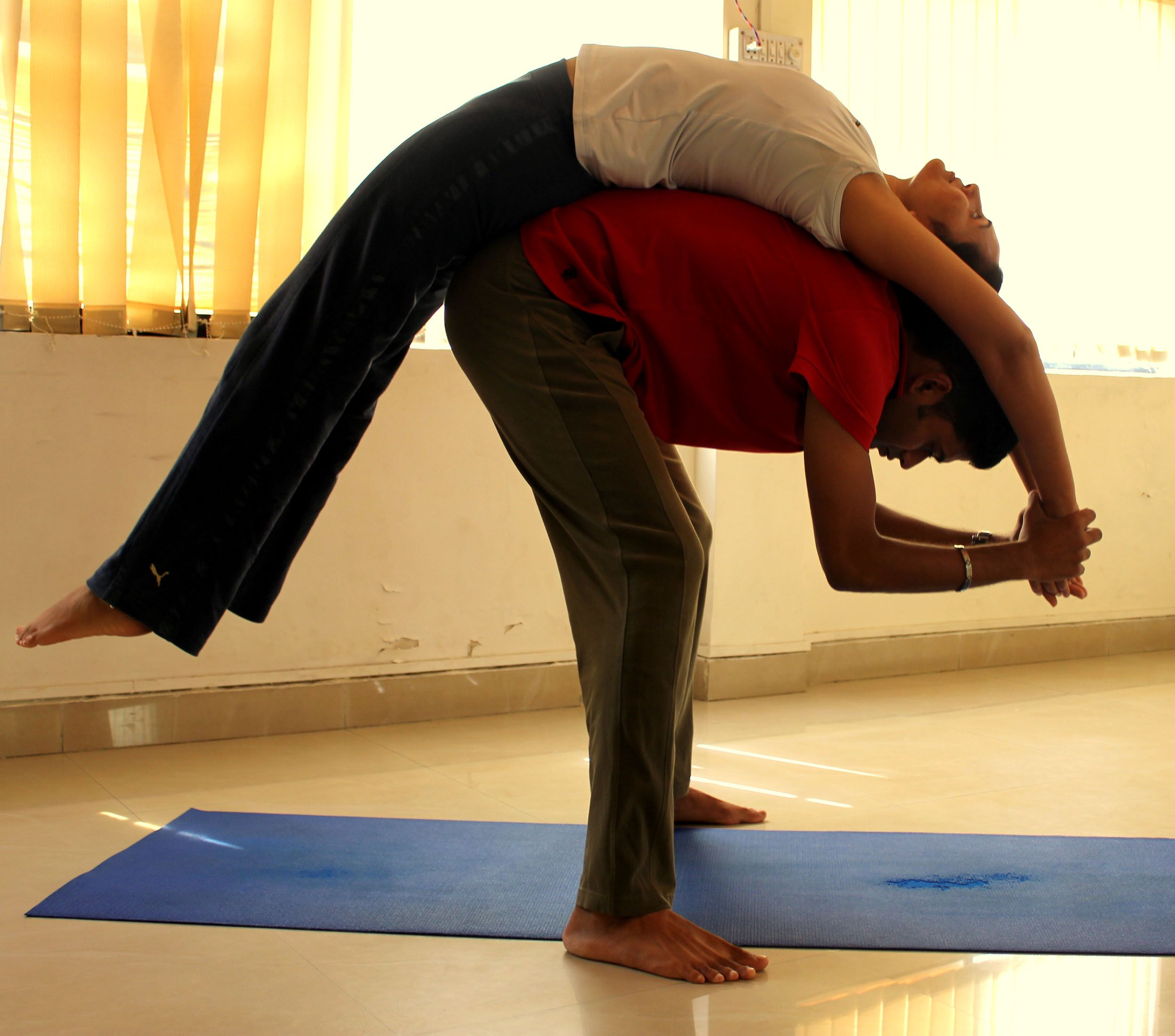 Partner Stretching In Yoga Partner Yoga Partner Stretches Yoga Class Themes