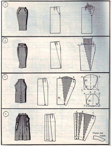 912e085dae4 37 способов сшить юбку | Шитьё и крой | Skirt fashion, Sewing и ...
