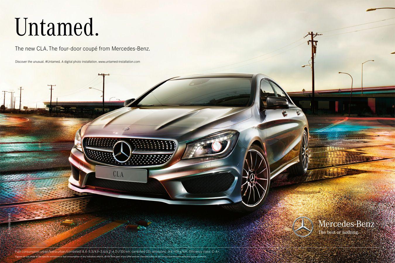 Mercedes cla transportation uwe duettmann ad car for Mercedes benz slogan
