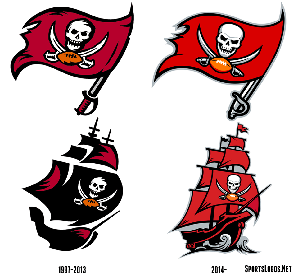 The New And Old Tampa Bay Buccaneers Logos Tampa Bay Buccaneers Logo Tampa Bay Buccaneers Tampa Bay Bucs