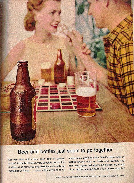 Vintage Beer Bottle Ad | Retro Vintage | Beer, Beer poster