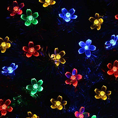 Solar String Lights, LED Flowers Decorations Outdoor Waterproof