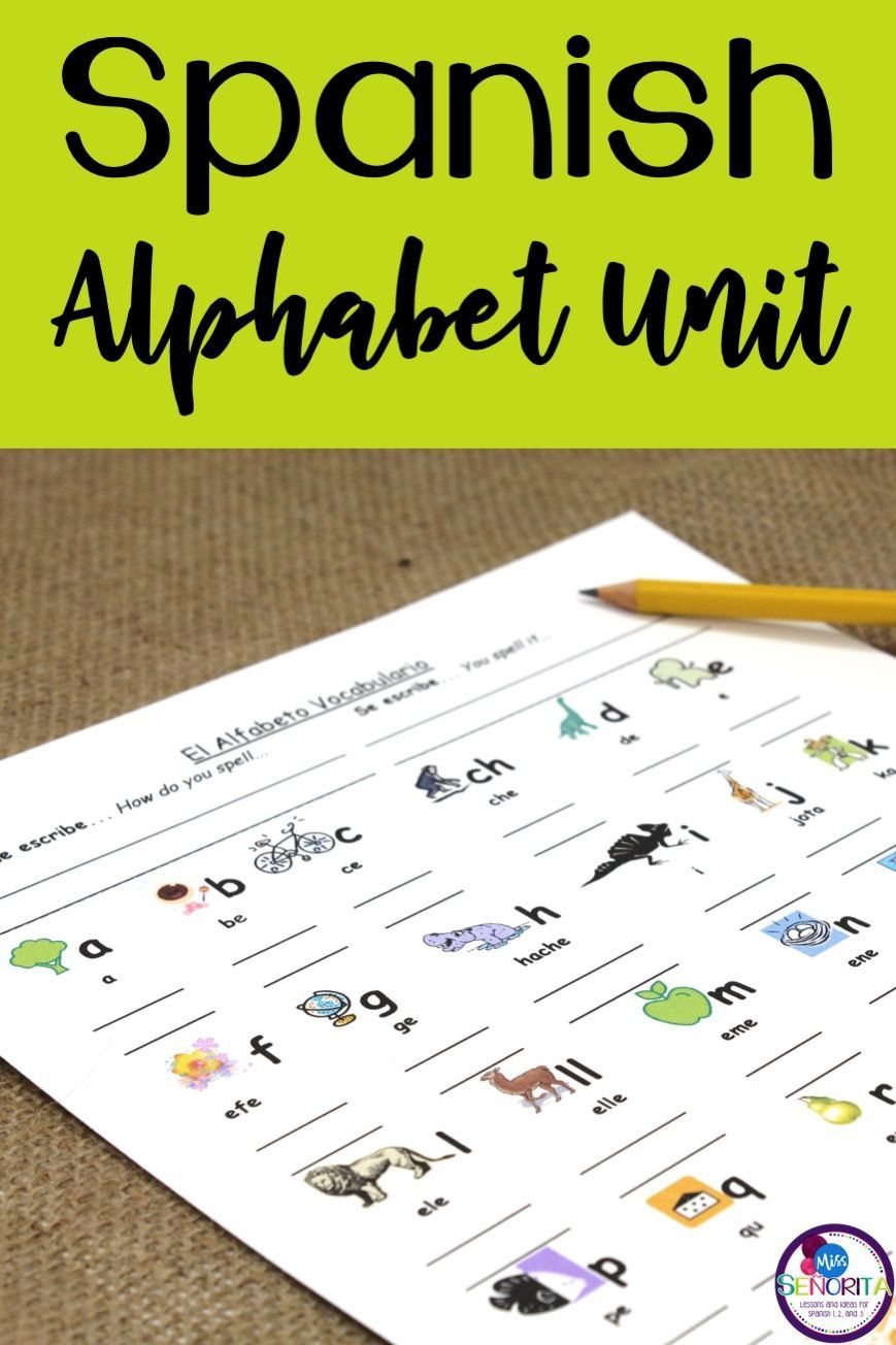 Spanish Alphabet Unit in 2020 Spanish alphabet, Teaching