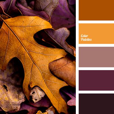 Orange and plum color palette