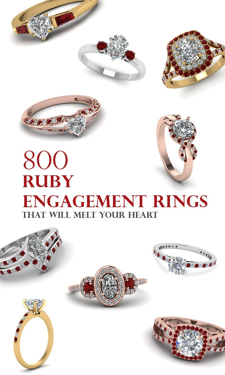 For the nontraditional bride ruby engagement rings that will steal