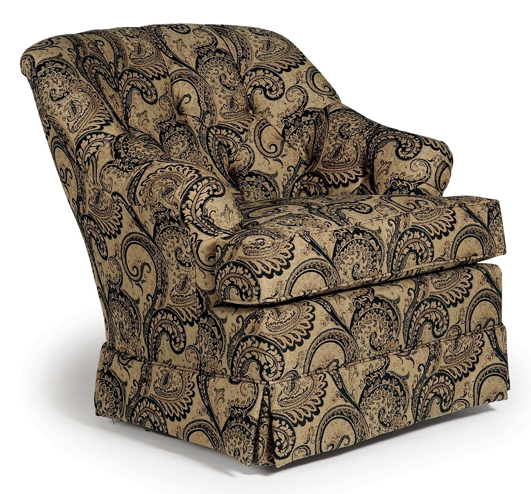 Chairs swivel glide traditional swivel rocker with
