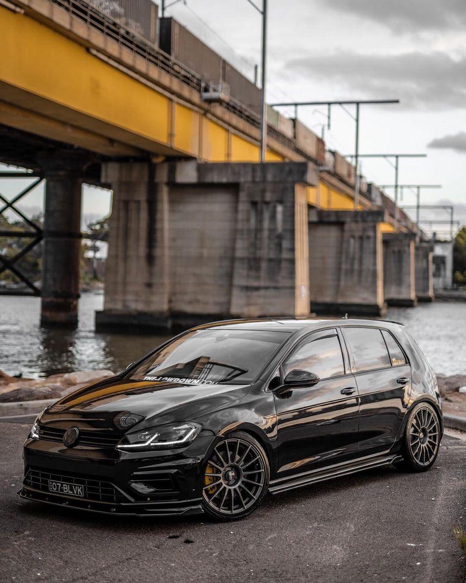 Black Golf 7 5 R In 2021 Volkswagen Gti Volkswagen Golf Mk2 Golf Car Wallpaper black volkswagen car on bridge