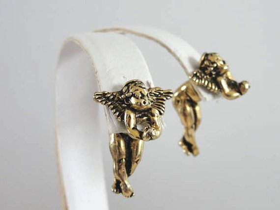 Ear Lusion Angel Earrings Cherubs Putti by victoriajamesdesigns, $35.00