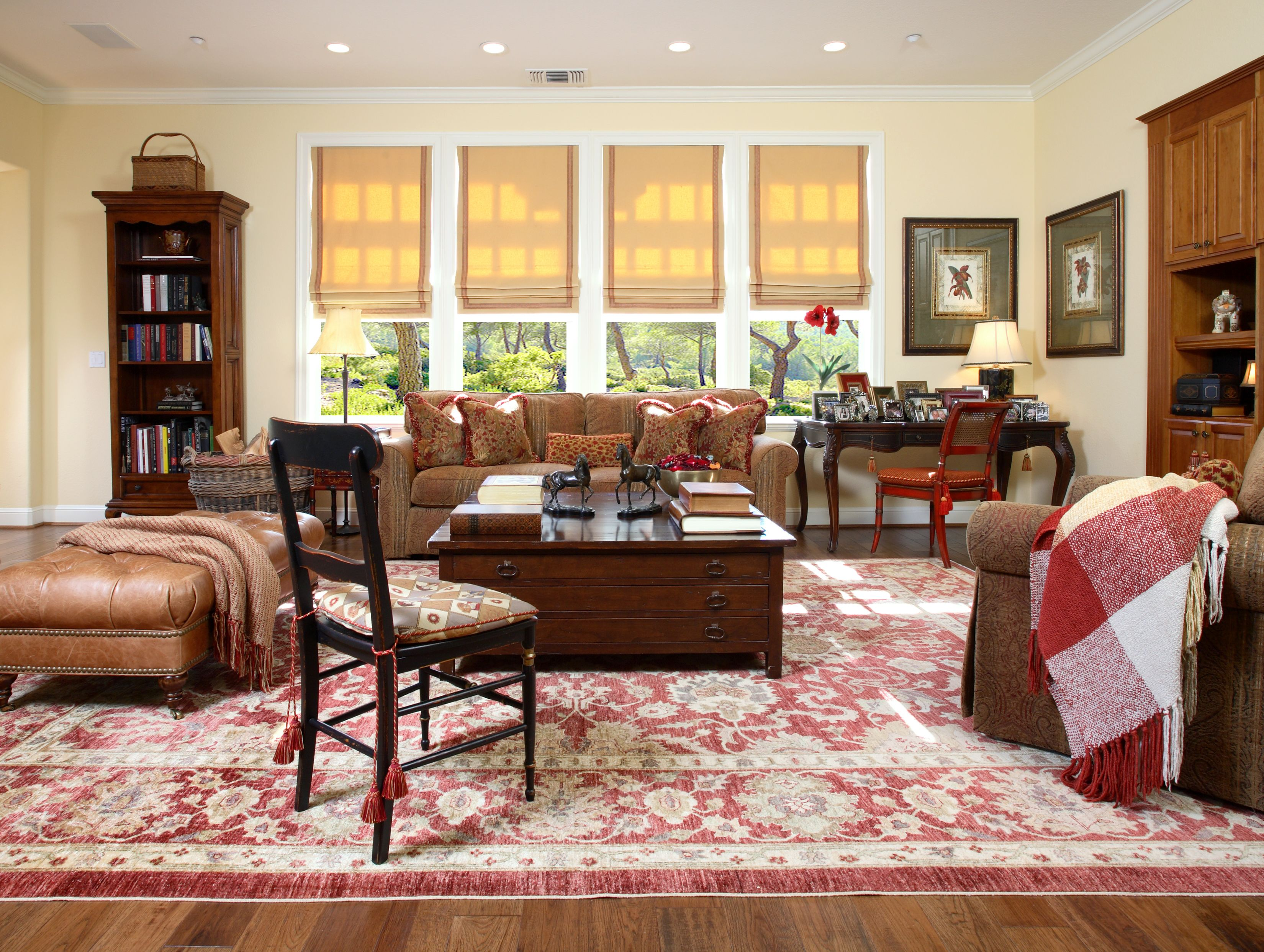 SUZANNE MYERS ELITE DESIGN: A cozy, comfortable family room, almost indestructible for small children at play!
