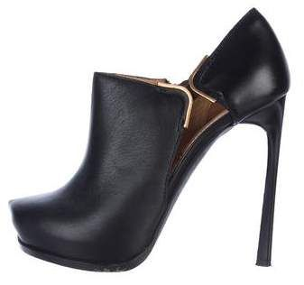 cheap official where to buy low price Lanvin Leather Cutout Booties amazon footaction 0zdpxBT4Ud