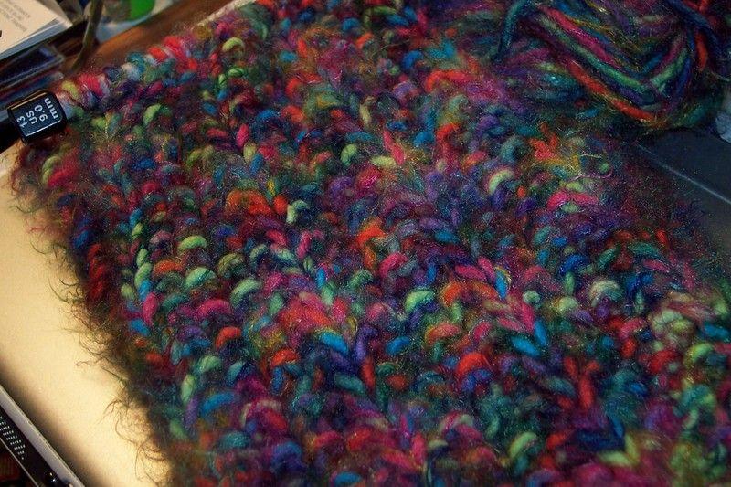Its Joann S Sensations Angel Hair Yarn Knit On Size 13 Needles In