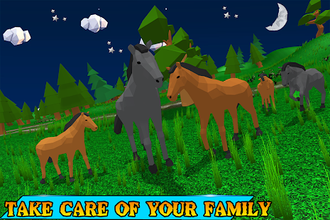 horse family simulator 3D environment simulation