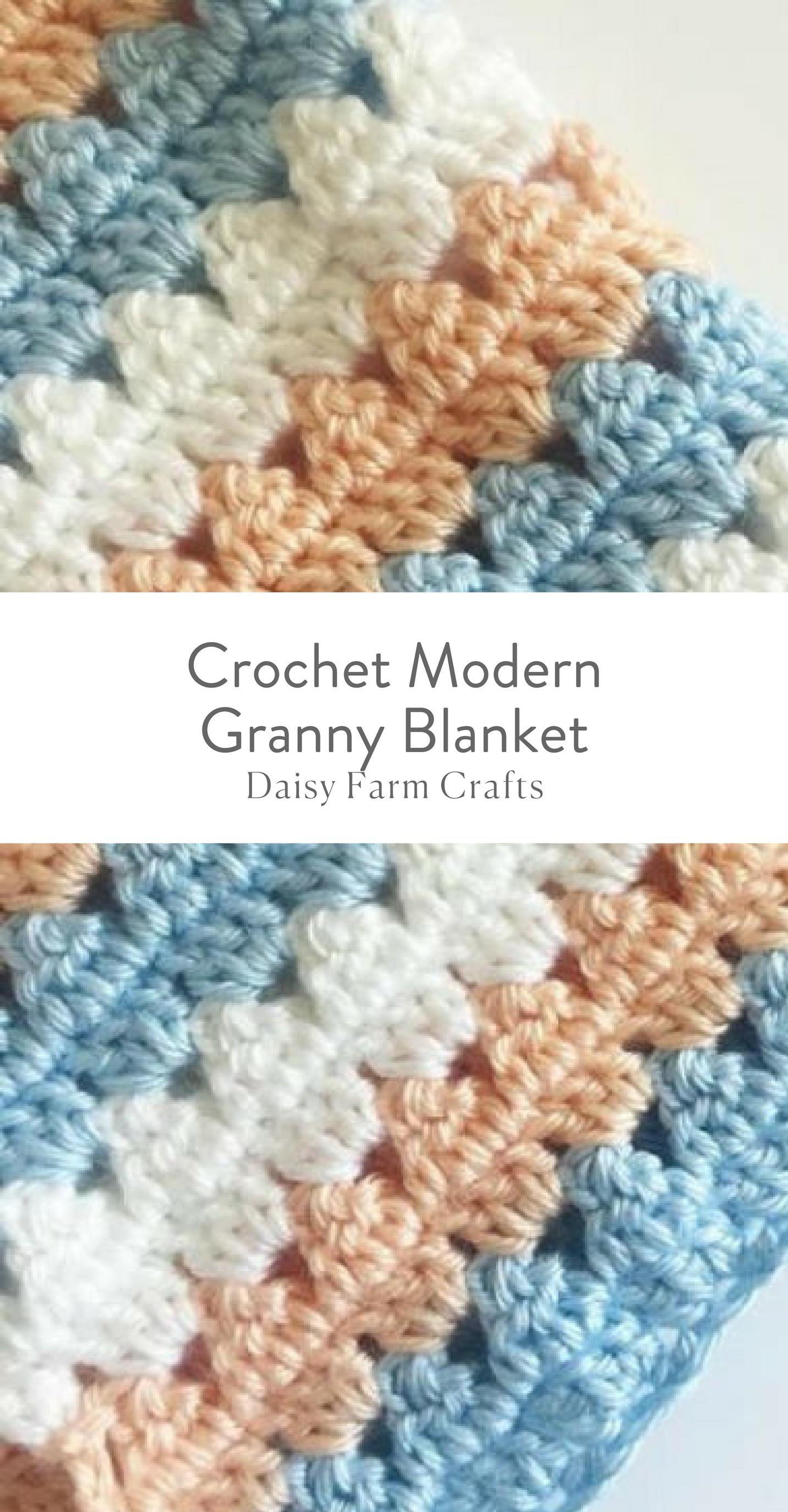 Free Pattern - Crochet Modern Granny Blanket   Crochet blankets ...
