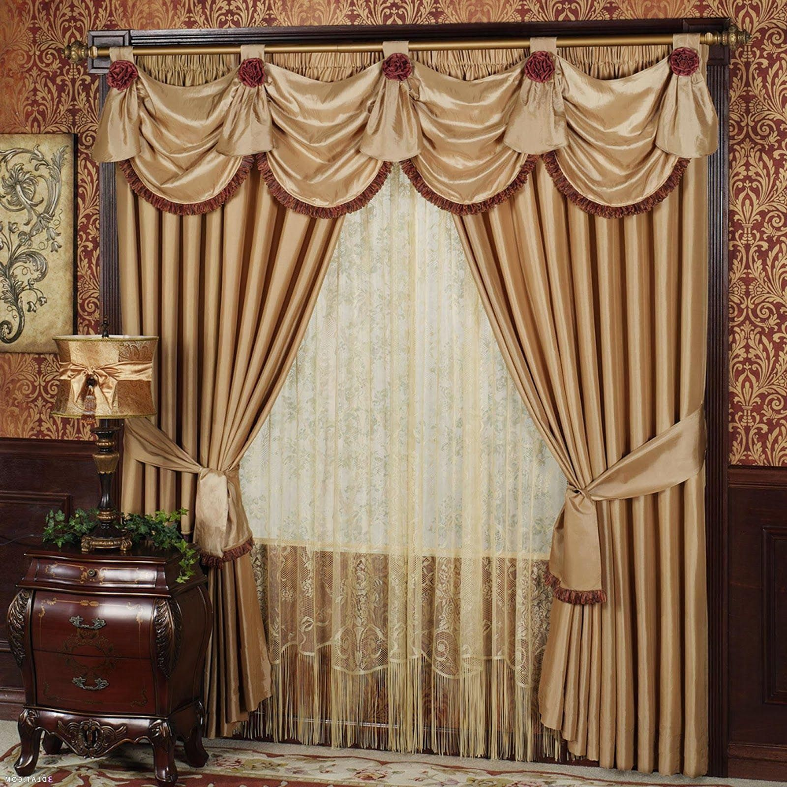 Living Room Drapes With Valances Valances For Living Room
