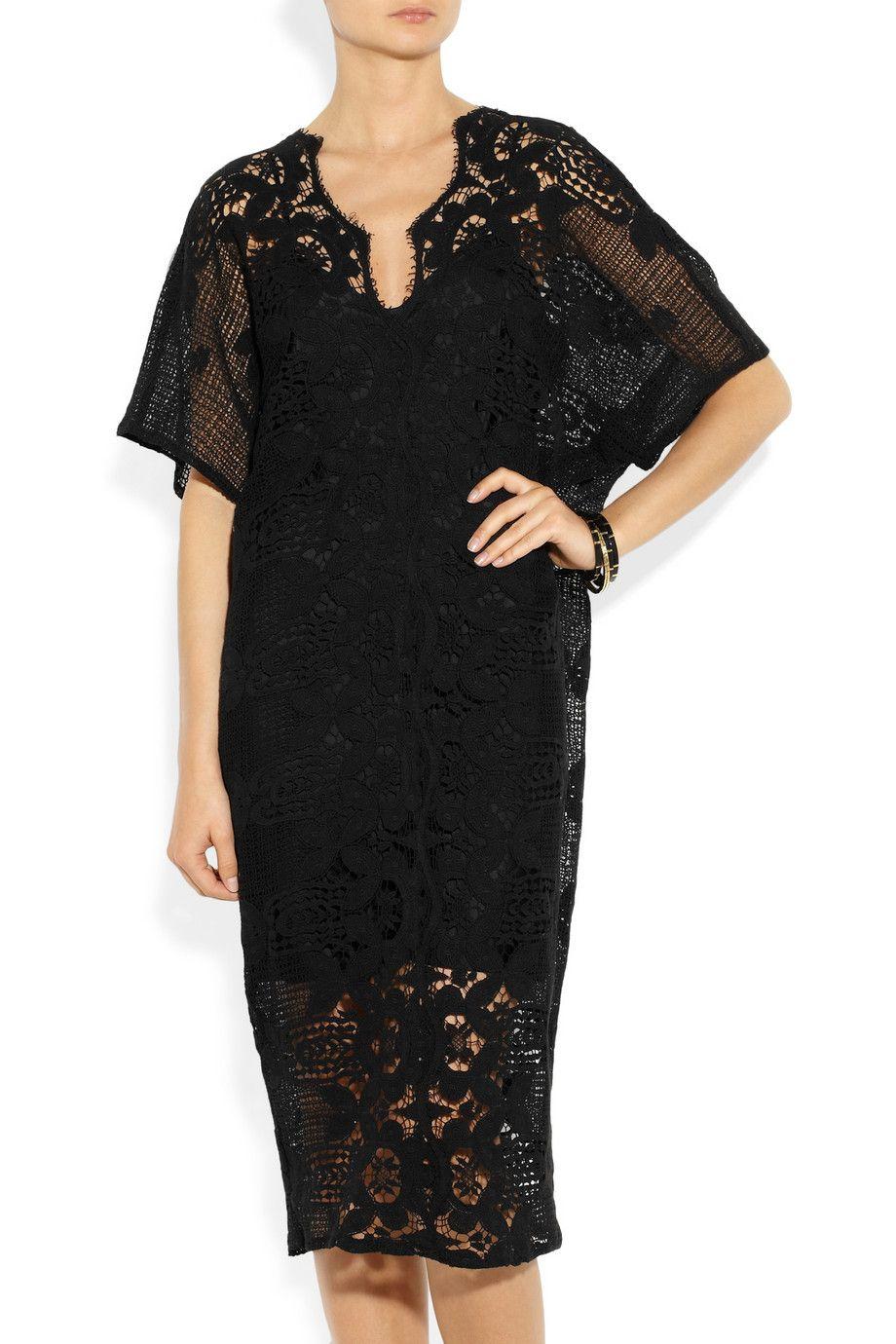 Miguelina|Kate cotton-lace kaftan|NET-A-PORTER.COM
