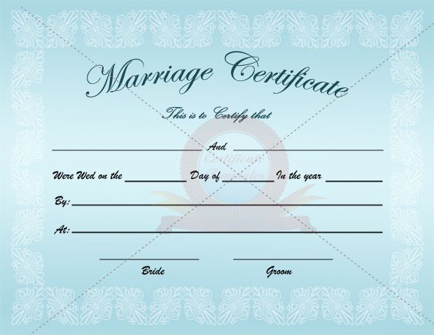 Marriage Certificate Template – Marriage Certificate Template