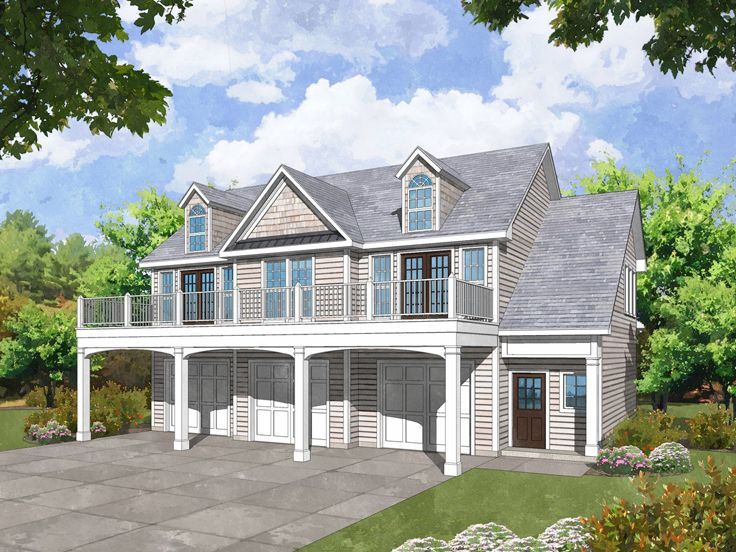 053g-0032: carriage house plan with 3-car garage | carriage house