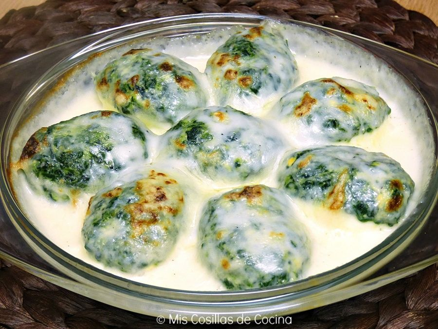Huevos rellenos de espinacas   Cocinar en casa es facilisimo.com