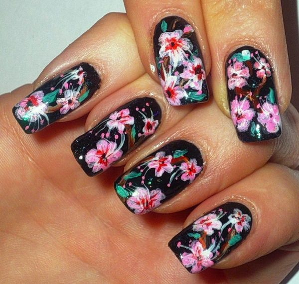46 spring nails designs and colors to try in 2018 spring nails 46 spring nails designs and colors to try in 2018 japanese cherry blossomsflower prinsesfo Gallery