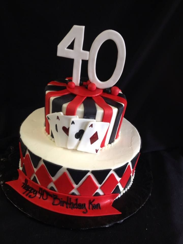 Deck Of Cards 2 Tiered Birthday Cake Designed By Sam Lucero Blue