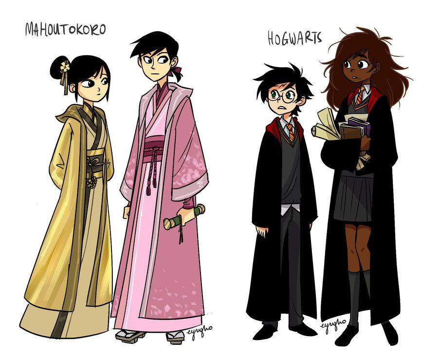 Mahoutokoro And Hogwarts By Eyugho Deviantart Com On