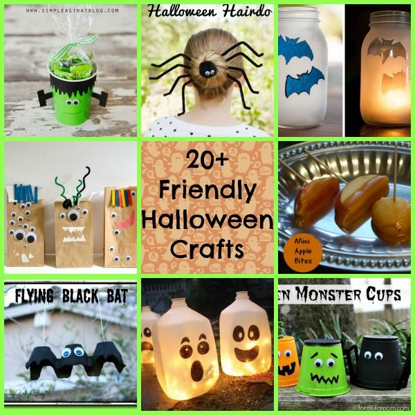 20+ Friendly #Halloween #Crafts and #Recipes! Nothing spooky here - cute halloween diy decorations