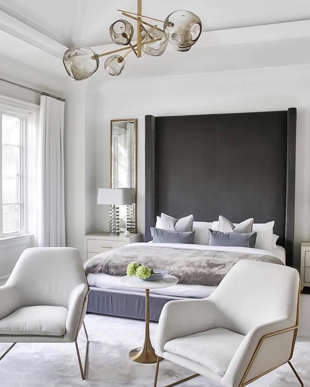 Bedroom Furniture You Ll Love: I Love The Proportion Of The Bed's Headboard In This Room
